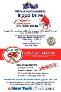 Richmond Masonic Association  Blood Drive