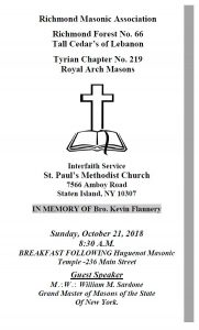 Masonic Interfaith Service